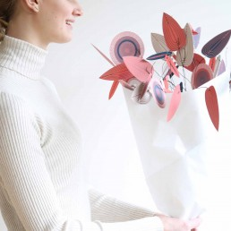 Papierblüten - Blatt