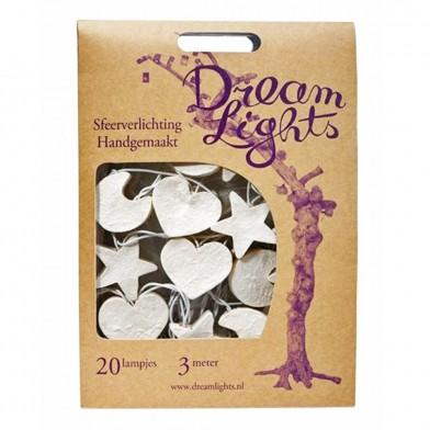 DreamLights-Lichterkette- Mond, Sterne Herz, weiß