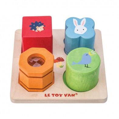 Le toy van- Steckpuzzle Sensory Tray
