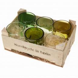 Gläser - 6er Set in Holzbox
