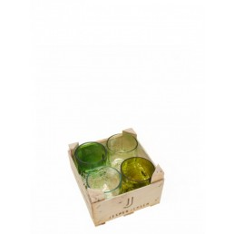 Gläser, klein - 4er Set in Holzbox