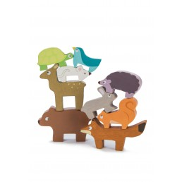 Le toy van- Steckspielzeug Waldtiere